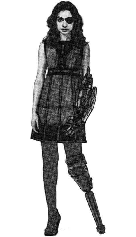 """Photoshopeo del personaje en estado """"adolescente"""". Representación del personaje al final de la novela."""