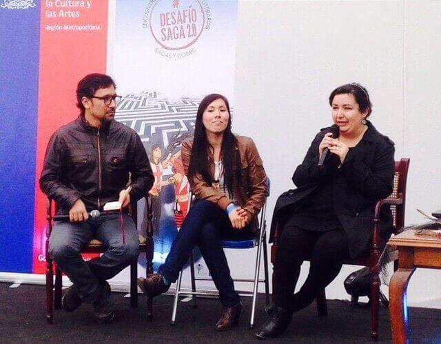 Con Belén Cereceda y Carolina Varela, presentando la novela Condenados